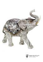 Sweetlake Old paper Olifant 18.5 cm