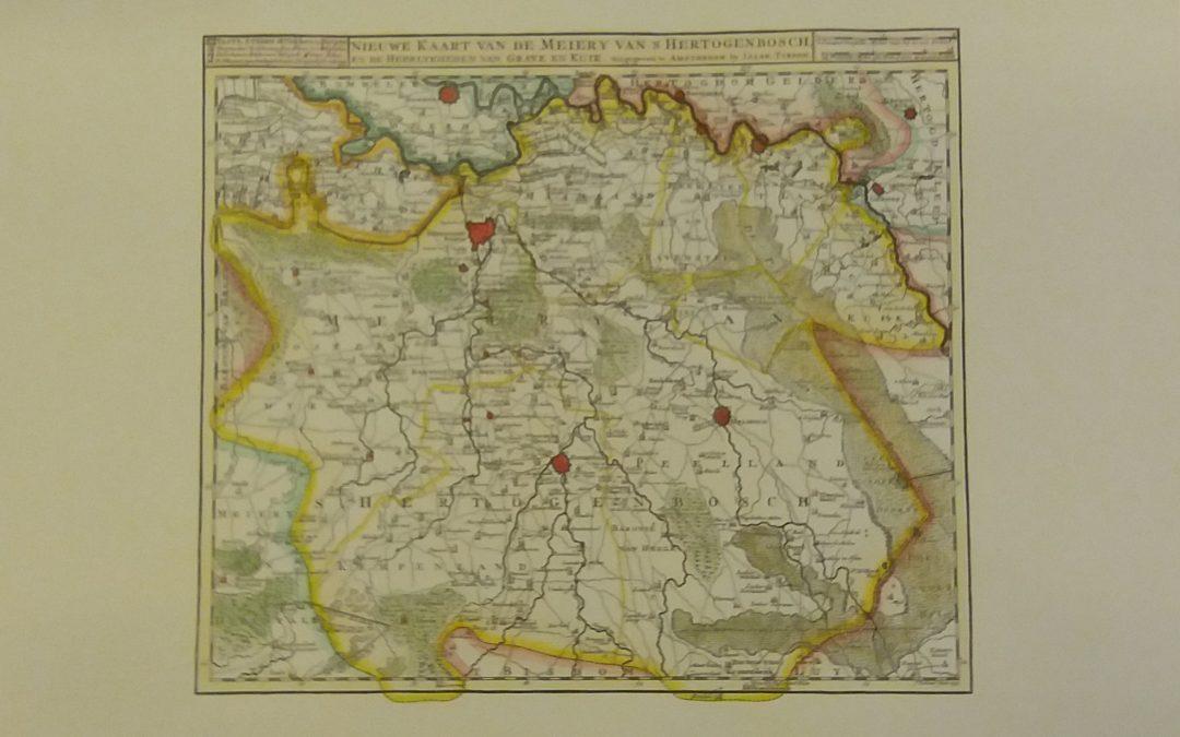 Isaak Tirion: Kaart Brabant