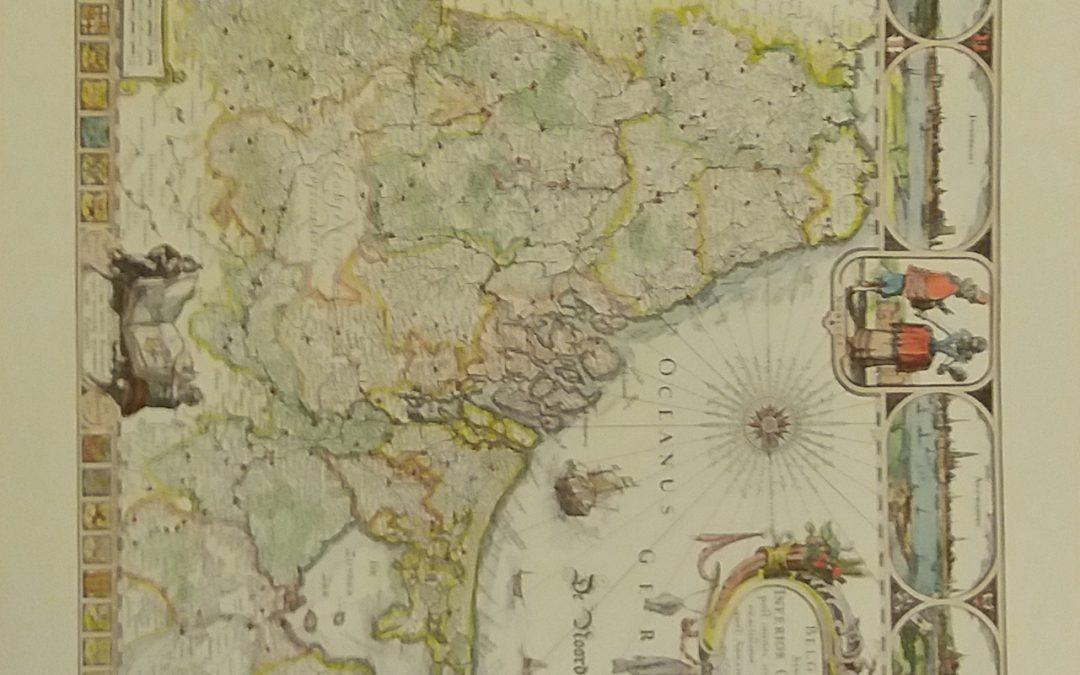 Abrahamo Goos: Kaart van Nederland