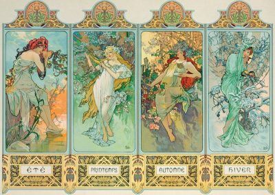 puzzel Eurographics – Four Seasons – Alphonse Mucha (1000)