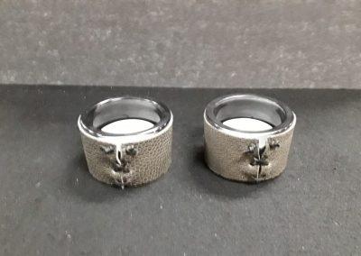Ruighuid theelichtglas grijs XL