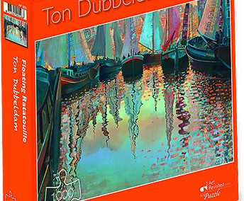 puzzel Art Revisited- Ton Dubbeldam – Floating Ratatouille (1000)