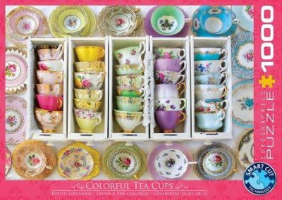 puzzel Eurographics Tea Cups Boxes (1000)