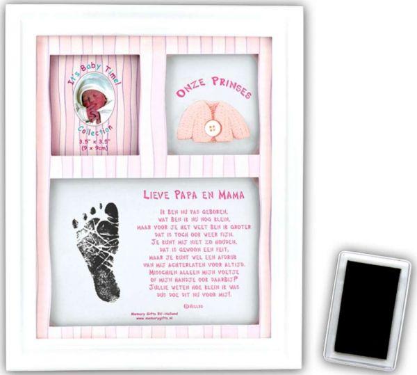 Fotolijst met inktafdruk rose