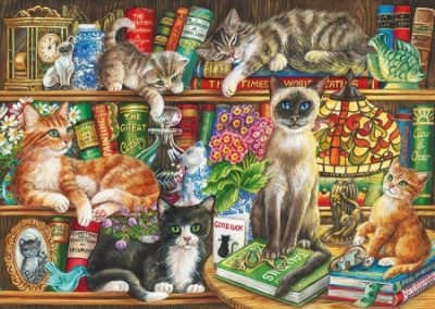 puzzel Gibsons Puss in Books (1000)