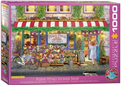 puzzel Eurographics Plush Petals Flower Shop- Paul Normand (1000)