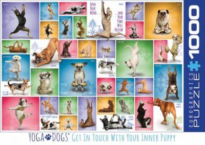 Puzzel Eurographics Yoga Dogs