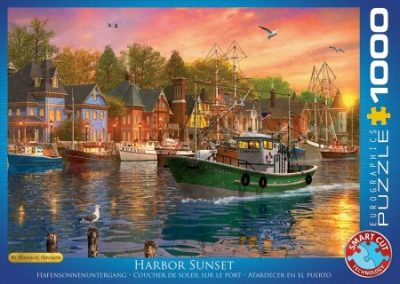 puzzel Eurographics Harbor Sunset – Dominic Davison (1000)