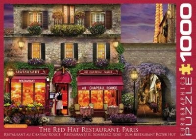 puzzel Eurographics The Red Hat Restaurant Paris (1000)