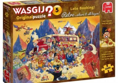 puzzel jumbo Wasgij Retro Original 5 – Last Minute Booking! (1000)