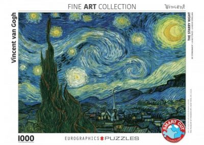 puzzel Eurographics Starry night – Vincent van Gogh (1000)