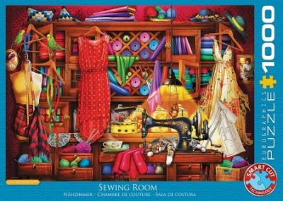 puzzel Eurographics Sewing Craft Room (1000)
