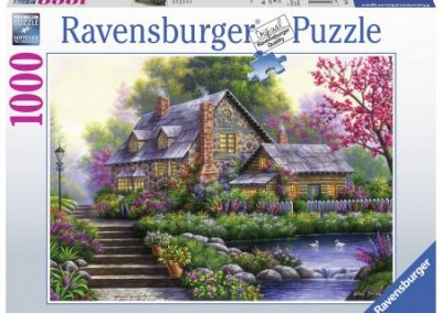 puzzel Ravensburger Romantische Cottage (1000)