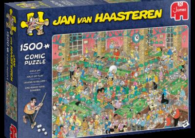 puzzel Jumbo Jan van Haasteren – Krijt op tijd! (1500)