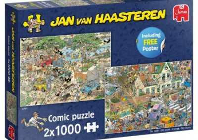 puzzel Jumbo Jan van Haasteren – Safari & Storm 2 in 1 (2×1000)