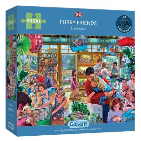 puzzel Gibsons Furry Friends 500 XL